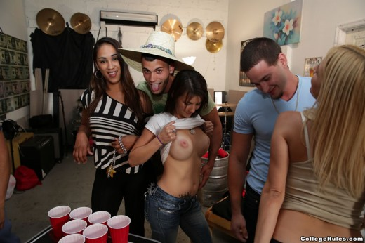 college student flashing her boobs at party | Busty Lounge