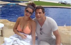 Kim Kardashian in bikini with Joe Francis