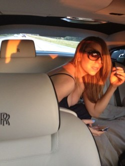 Mariah Carey car cleavage