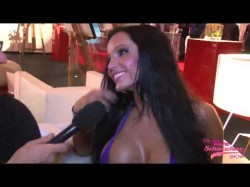 German pornstar Julia Herz in micro bikini at Berlin Venus 2012 in Berlin