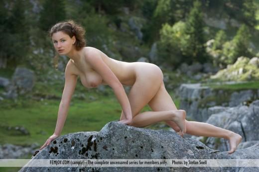 Femjoy Susann naked in nature