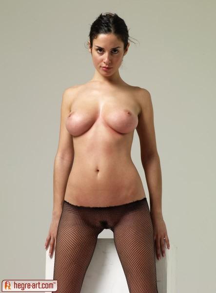 Muriel from Hegre Art in fishnet pantyhose