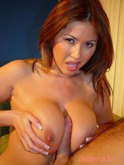 Kianna Dior titty-fucking a lucky dude