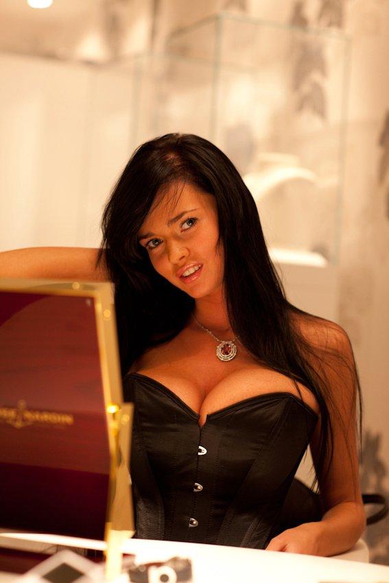 Sha Rizel in corset