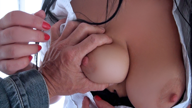 Suzy Fox gets her boob squeezed
