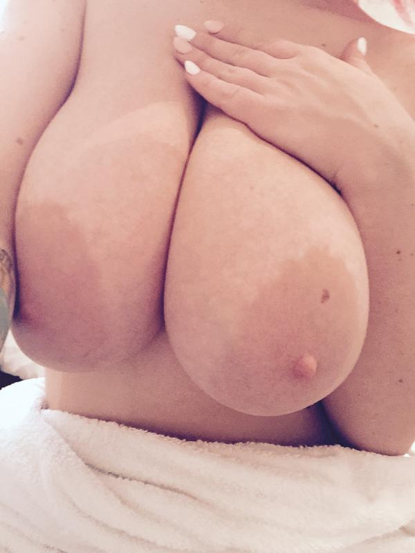 close up of Lily Madison's big natural boobs