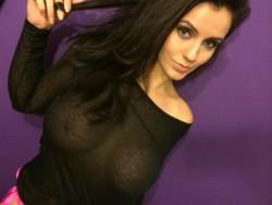 busty camgirl WONDERWOMAN36DD in black sheer top