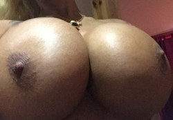close up of Vanity Porn's boobjob