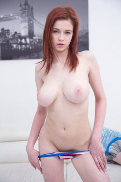 nude Sophia Traxler shows her big natural breasts